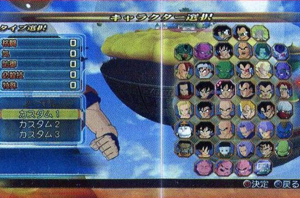 Dragon Ball: Raging Blast roster scan