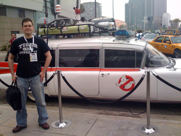 Ecto-1 Ectomobile Ghostbusters car at E3 2009 to promote the video game