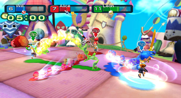 Line Attack Heroes Wii screenshot