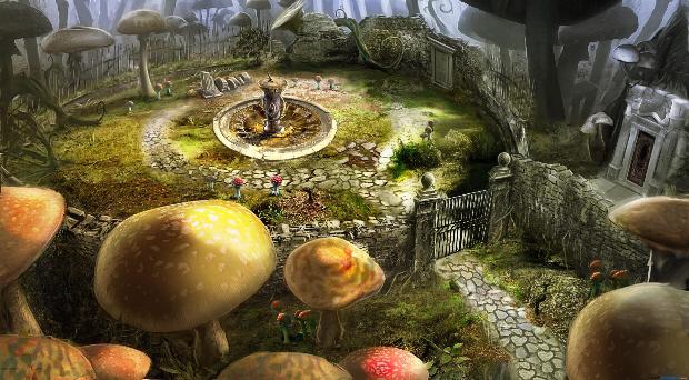 Alice in Wonderland game wallpaper. Concept art. Based on Tim Burton 2010 film