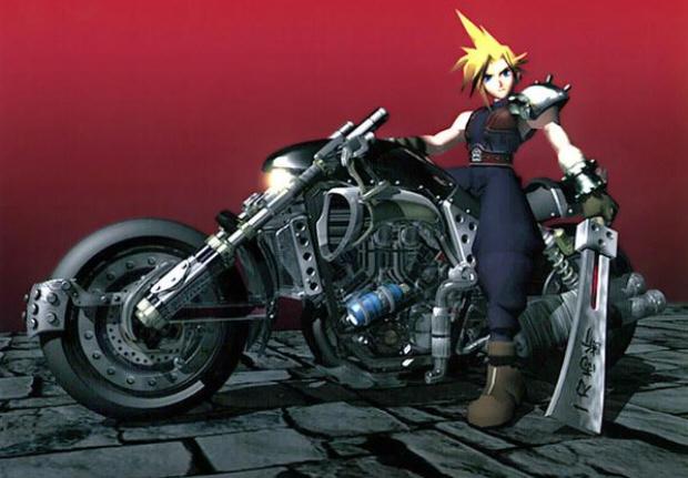 Final Fantasy VII Cloud Motorcycle wallpaper CG render