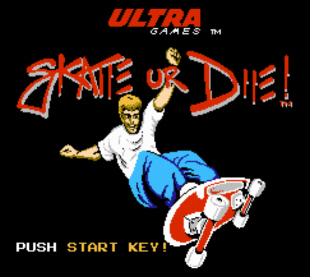 This Skate or Die screenshot makes excellent wallpaper