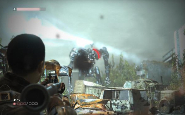 Do not be deceived . . . by this Terminator Salvation the video game screenshot