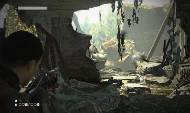 Terminator Salvation video game screenshot. Excitement abounds!