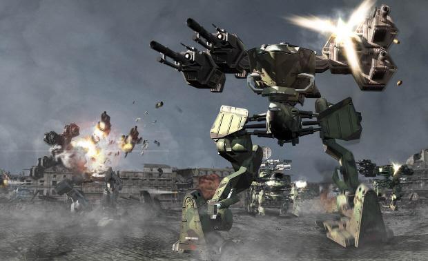 Chromehounds wallpaper (Xbox 360 mech game)