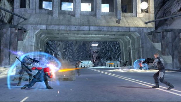 Some enemies have shields. Melee them to take them out. (GI Joe screenshot)