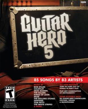Guitar Hero 5 box artwork