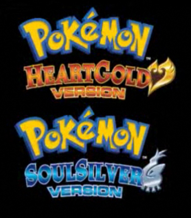Pokemon HeartGold and SoulSilver English logos