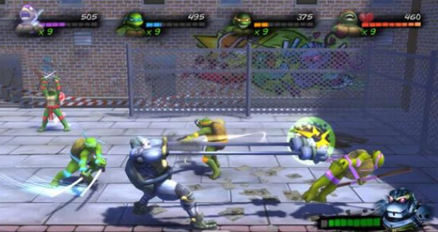 Turtles in Time Re-Shelled Metalhead boss fight screenshot