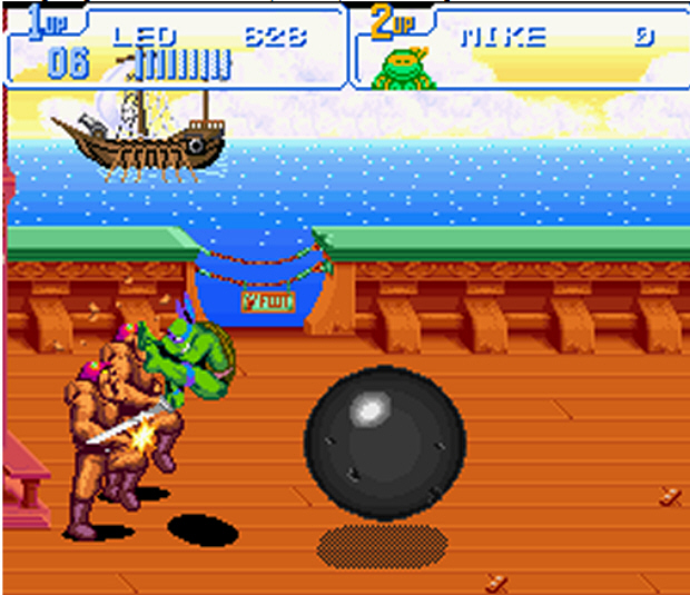 This attack from Turtles IV (SNES) is missing from Turtles in Time: Re-Shelled