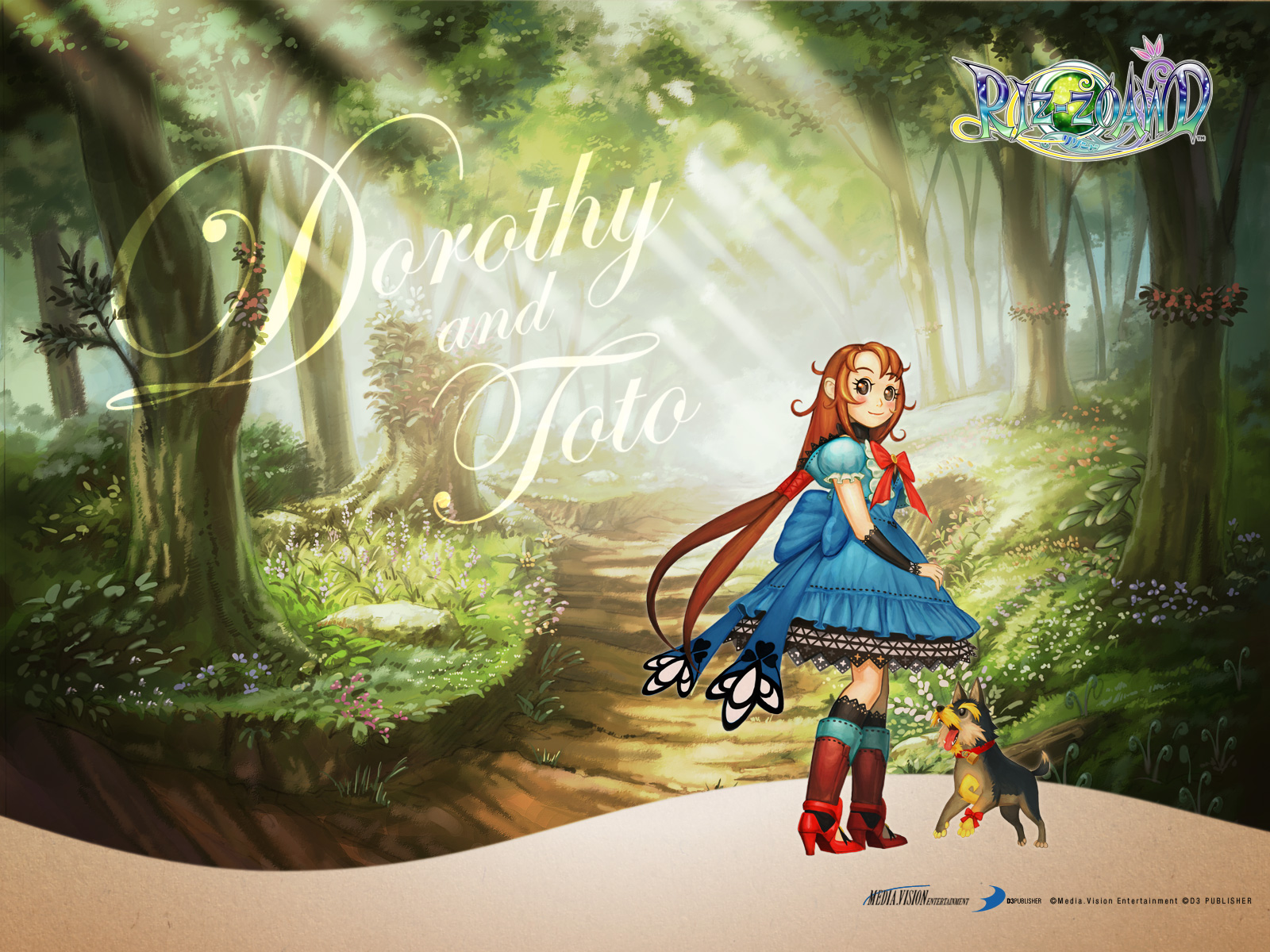 Dorothy Toto Wallpaper Wizard Of Oz Beyond The Yellow Brick Road