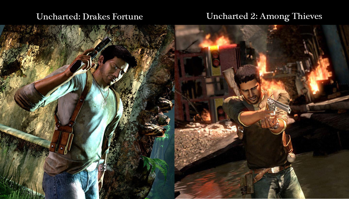Nathan Drake Wallpaper Comparison Uncharted 1
