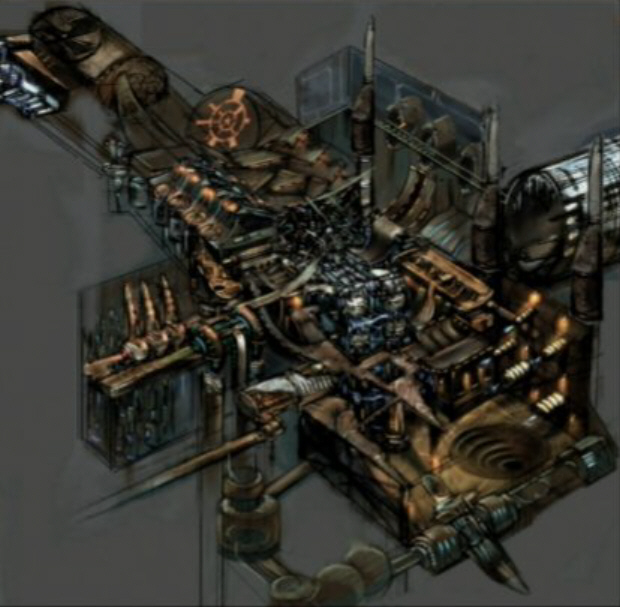 Metroid Prime level concept art. Intense, eh?