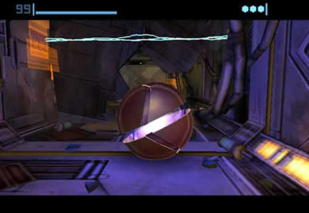 Morph Ball Metroid Prime Screenshot. Press A to lay a Bomb and prop yourself into the air. Time it right to Bomb Jump