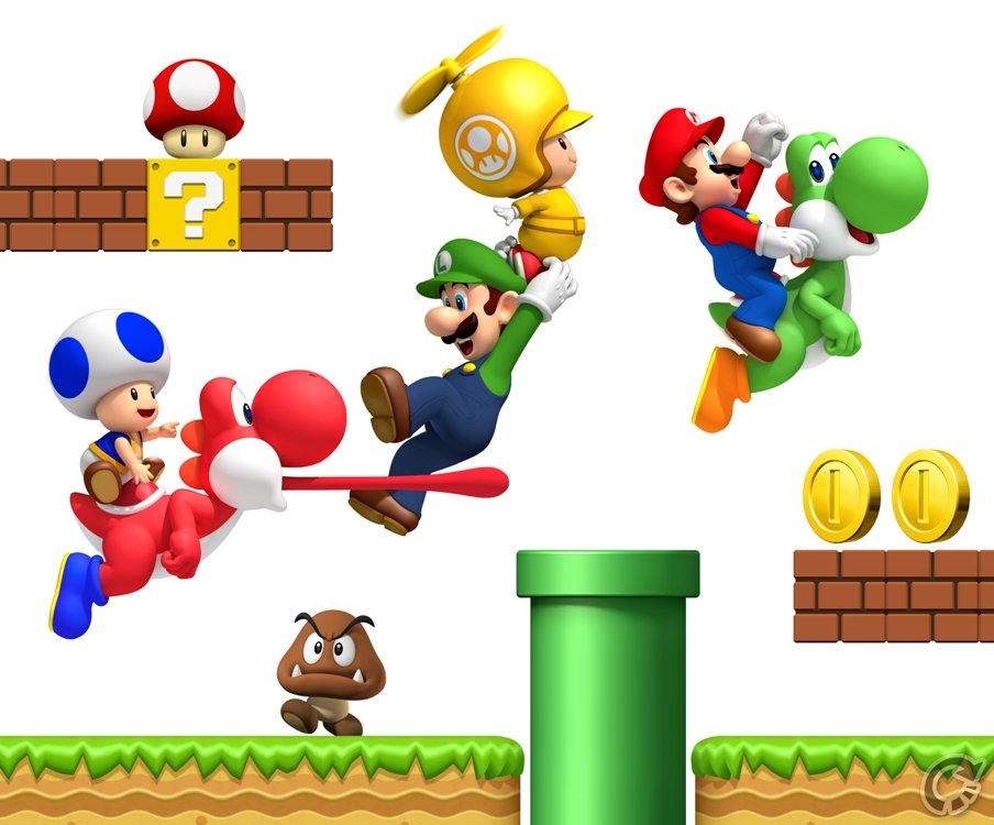 New super mario bros wii wallpaper altavistaventures Gallery