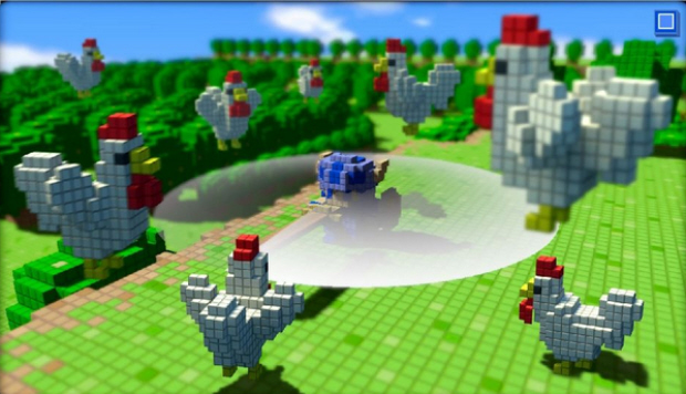 3D Dot Game Heroes screenshot. Announced for American release