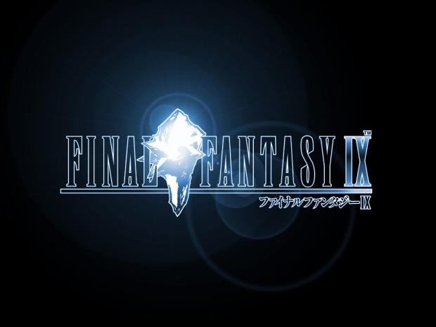 Final Fantasy IX logo wallpaper