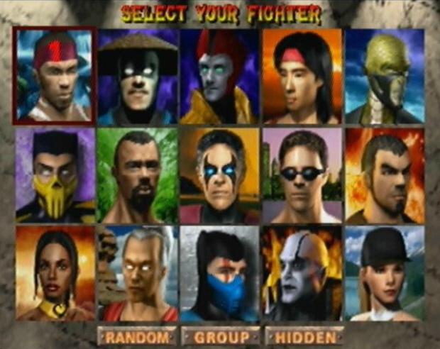 MK4 Characters Select Screenshot