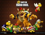 New Super Mario Bros Bowser and enemies cast wallpaper
