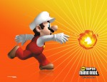 New Super Mario Bros wallpaper fireball fire Mario