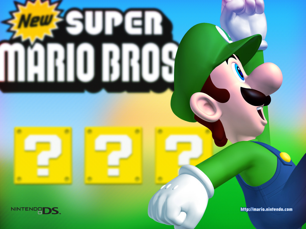 New Super Mario Bros Wallpaper Luigi 2