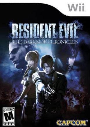 Resident Evil: The Darkside Chronicles box artwork (Wii)