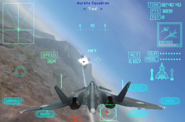 Ace Combat Xi iPhone mobile screenshot
