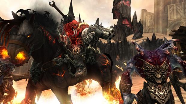 Horseman War and his fiery horse Ruin in Darksiders
