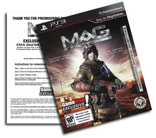 MAG PS3 game pre-order bonus (GameStop exclusive) artwork