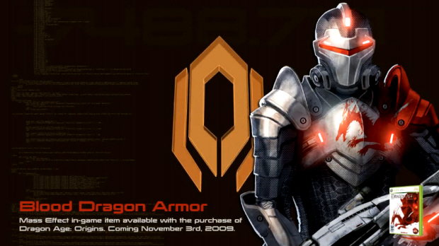 Mass Effect 2 Blood Dragon Armor for buying and registering Dragon Age: Origins on EA.com