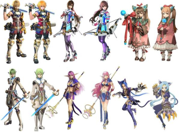 Star Ocean: The Last Hope characters artwork cast