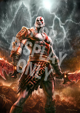 God Of War 3 Gamestop Poster Artwork Small