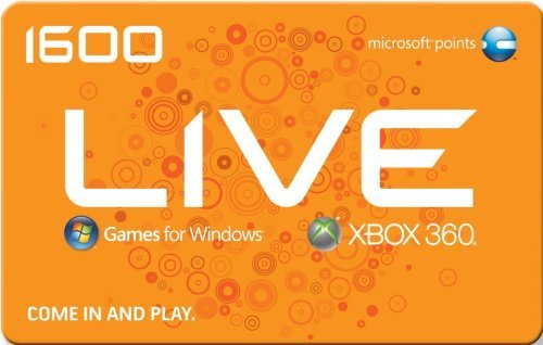 Get an Xbox 360 Live 1600 Points Card