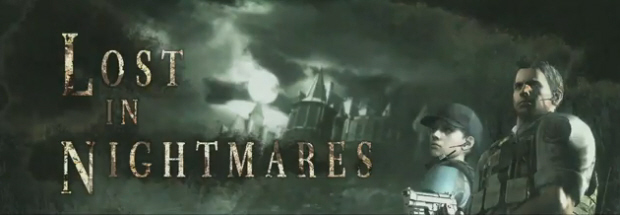 Lost In Nightmares Resident Evil 5 titlescreen Chris and Jill artwork