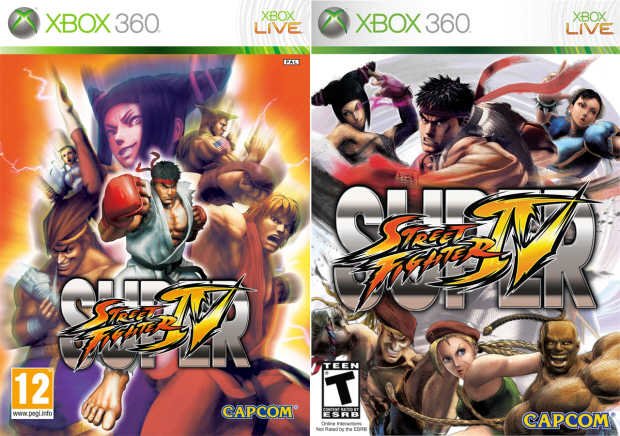 Super Street Fighter 4 box artworks. All 35 characters available from start (no unlocks)
