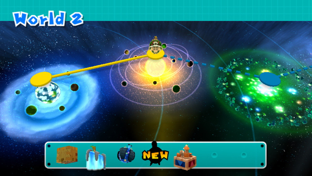 super mario galaxy 2 hub world replaced with world map