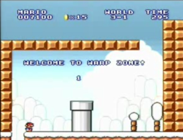 Super Mario Bros The Lost Levels Warp Zone Locations Wii Snes
