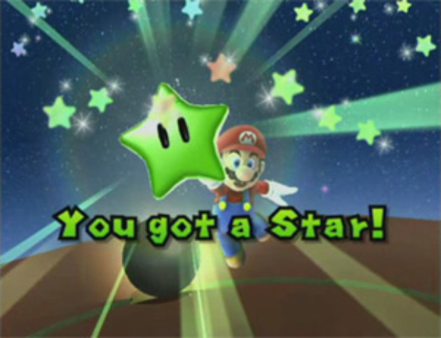 Super Mario Galaxy Stars Locations guide. Screenshot of green star