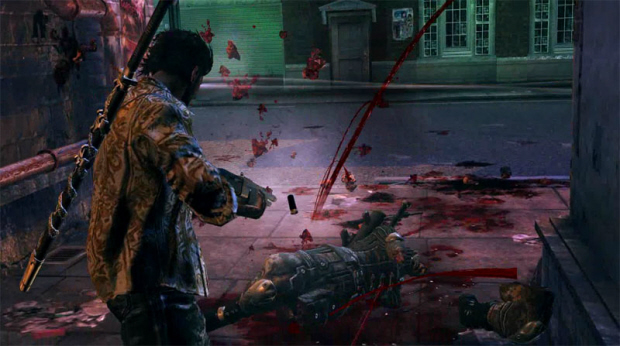 Devil's Third gameplay screenshot shows tons of gore for this over-the-top action game from Itagaki