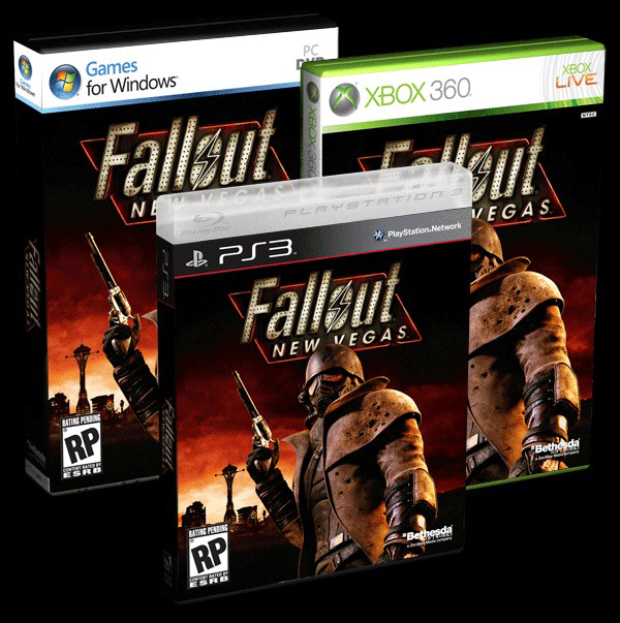 Fallout: New Vegas release date is October 19, 2010. Final box artwork (PS3, 360, PC)