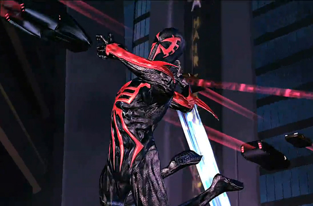 Spider-Man 2099 videogame form in Shattered Dimensions screenshot