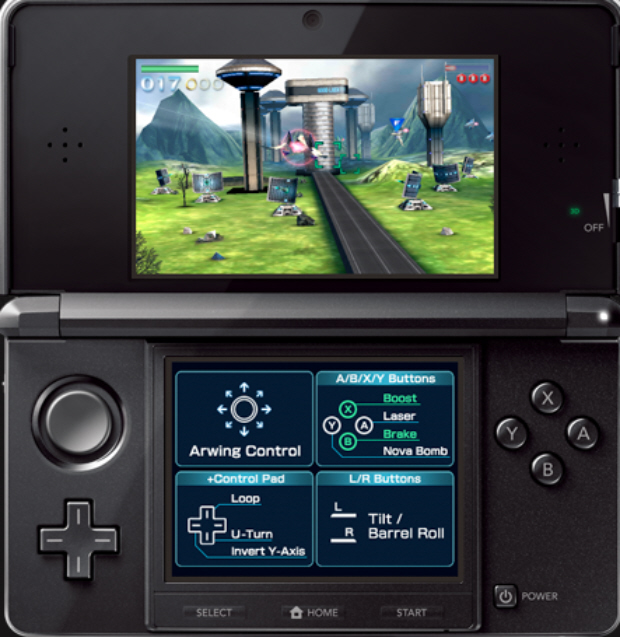 Starfox 64 3D screenshot for 3DS (E3 2010)
