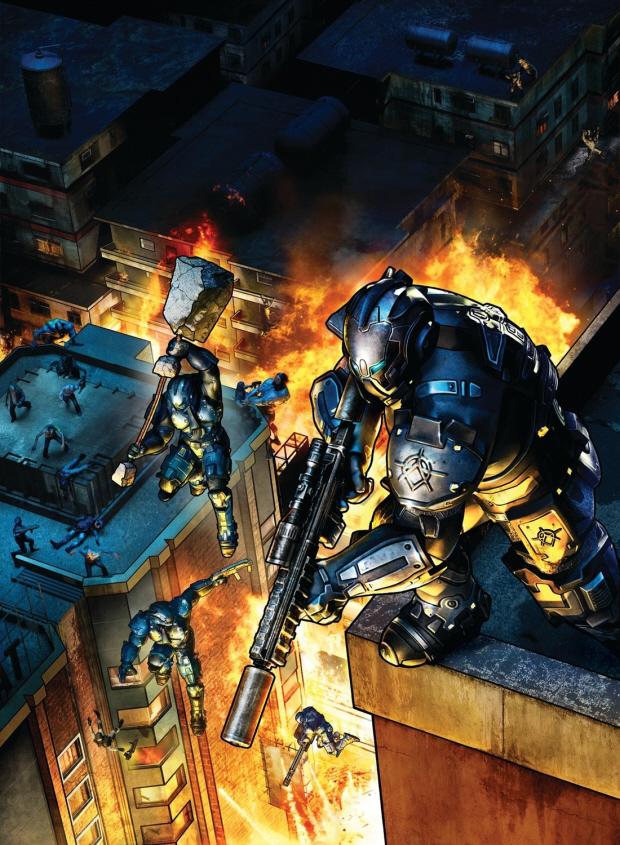 Crackdown 2 wallpaper cover artwork