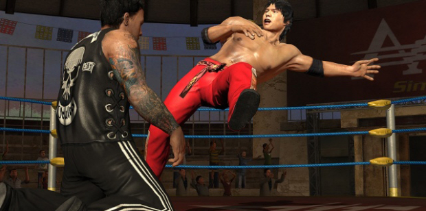 Lucha Libre AAA Heroes del Ring characters list screenshot