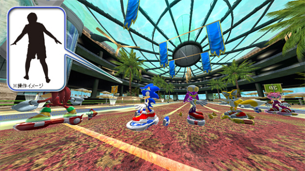 Sonic Free Riders characters cast screenshot (Xbox 360 Live Arcade with Kinect)