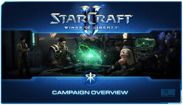 StarCraft 2 campaign guide screen
