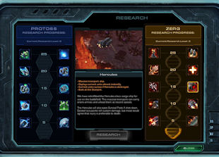 StarCraft 2 research upgrades interface
