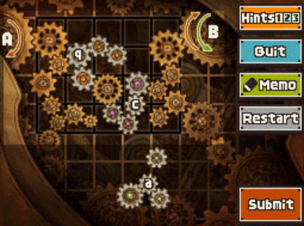Professor Layton and the Unwound Future puzzle 128 Reverse Rotation solution screenshot