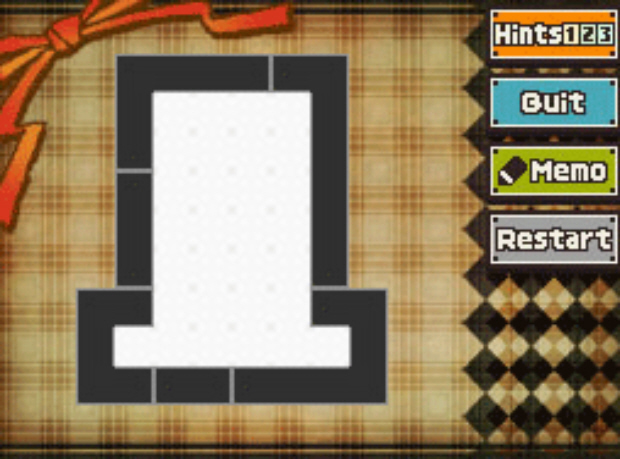Professor Layton and the Unwound Future puzzle 161 Black Hat White Hat solution screenshot