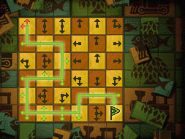 Professor Layton Unwound Future 24 Puzzle Answer No-Go Arrows Solution screenshot